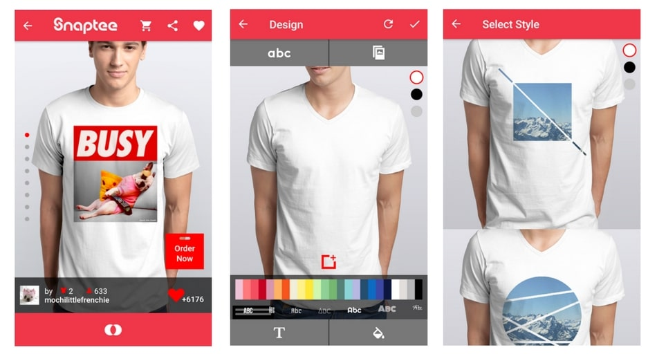 snaptee apps for t-shirt creators