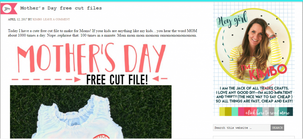 free svg mother's day a girl and a glue gun