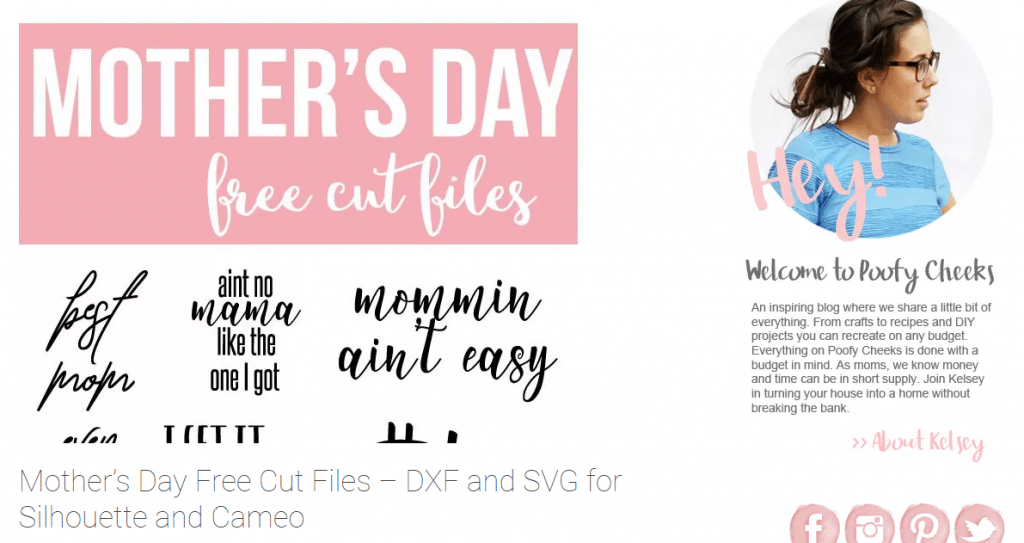 free svg mother's day poofy cheeks