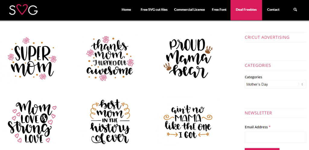 Love SVG free for mother's day