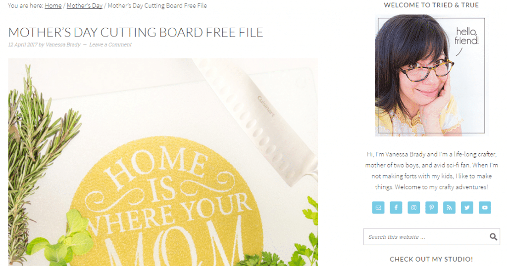tried and true blog free svg mother's day