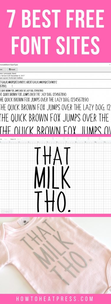 7 best free font sites for crafts and design