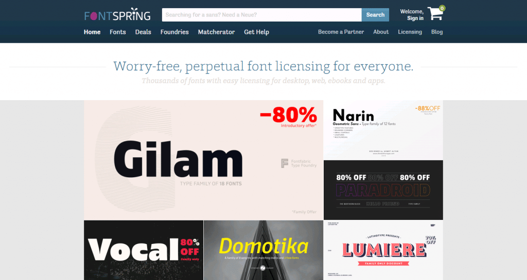 free fonts for design from font spring