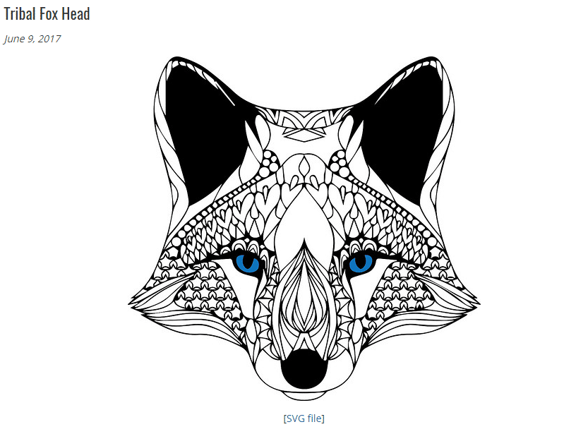 Thecraftchop.com free svg tribal fox 11 Best Websites with free SVG Cut Files