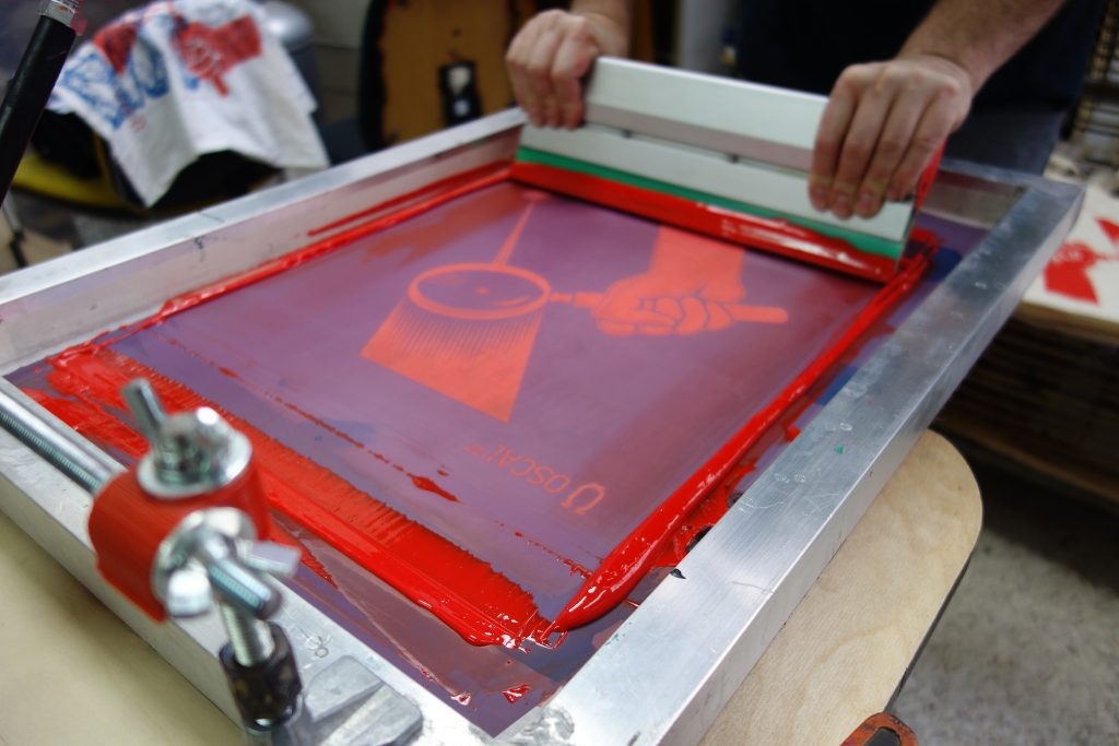 screen printing is a method for t-shirt printing