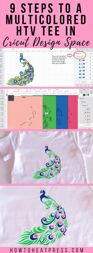 9 Steps To A Multicolored HTV Tee In Cricut Design Space