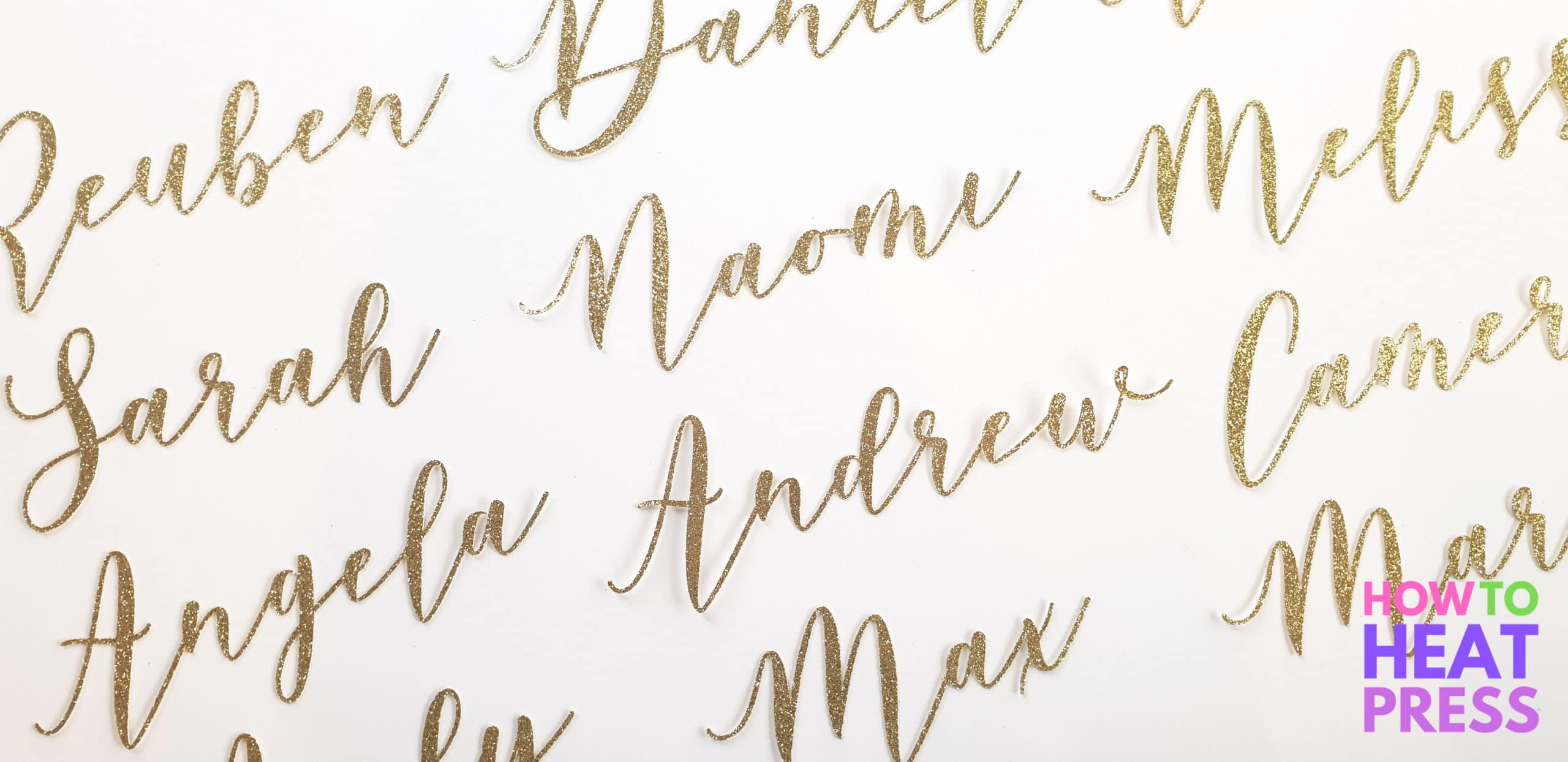 Wedding place names with cricut