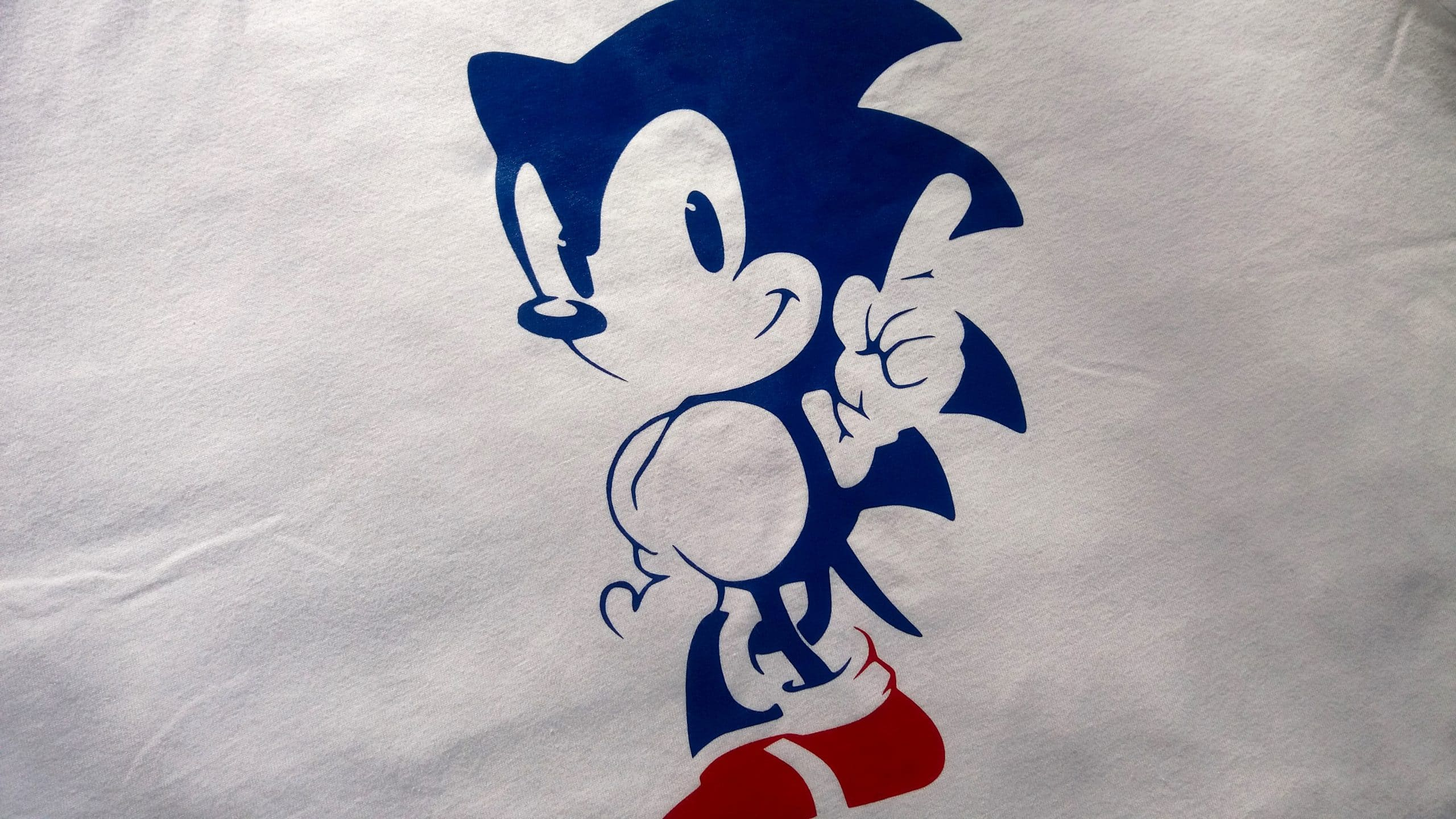 sonic the hedgehog custom tee