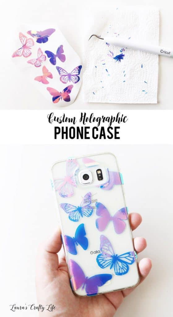 cricut holographic custom phone case adhesive vinyl