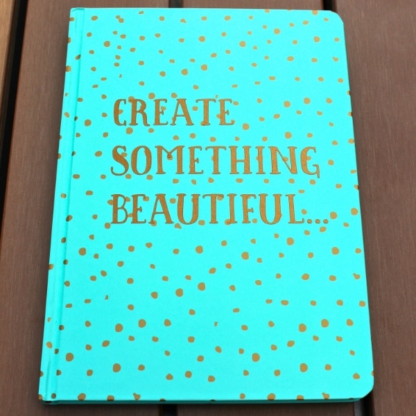 adhesive vinyl project idea custom diary