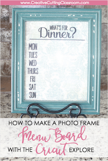 fun adhesive vinyl project how to make a menu board with Cricut