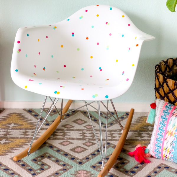 confetti chair custom adhesive vinyl project