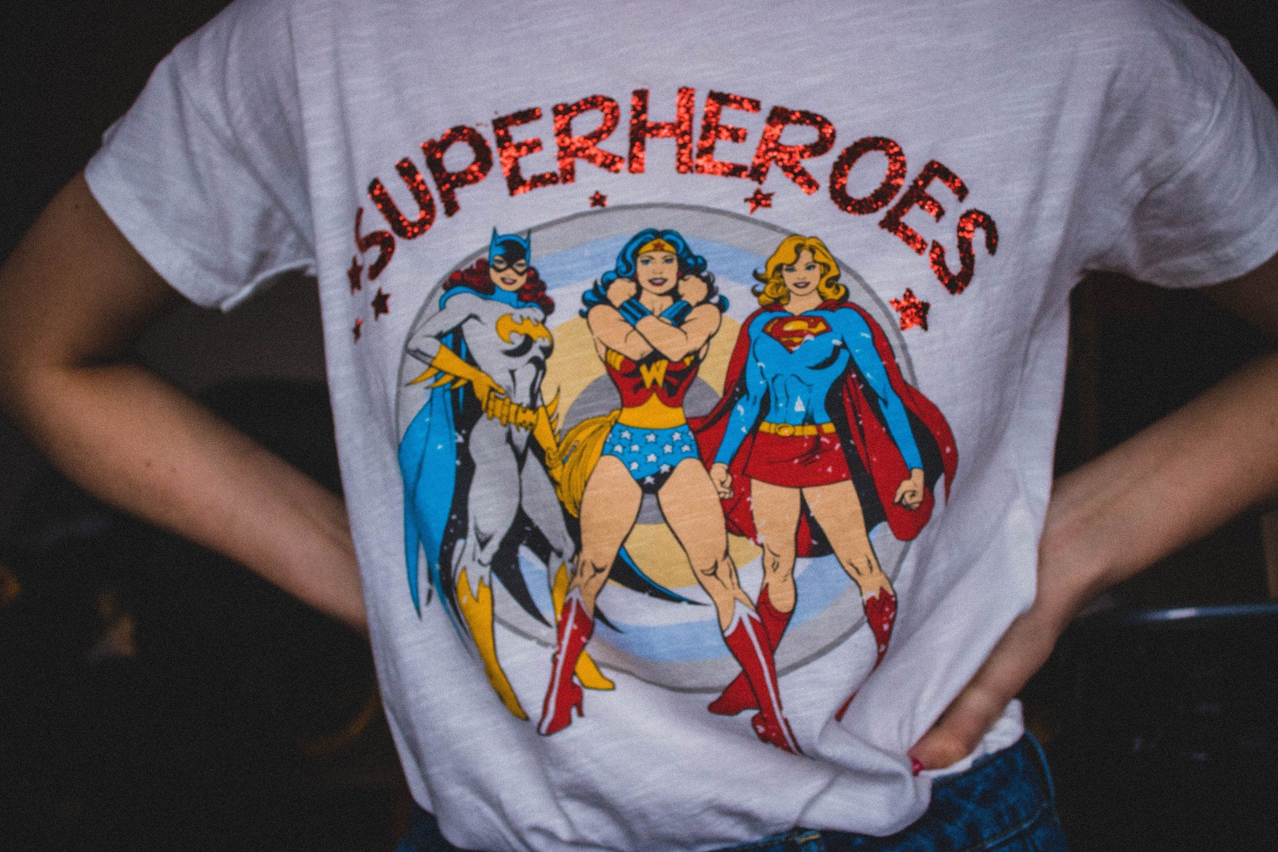 superhero geek tee HTV