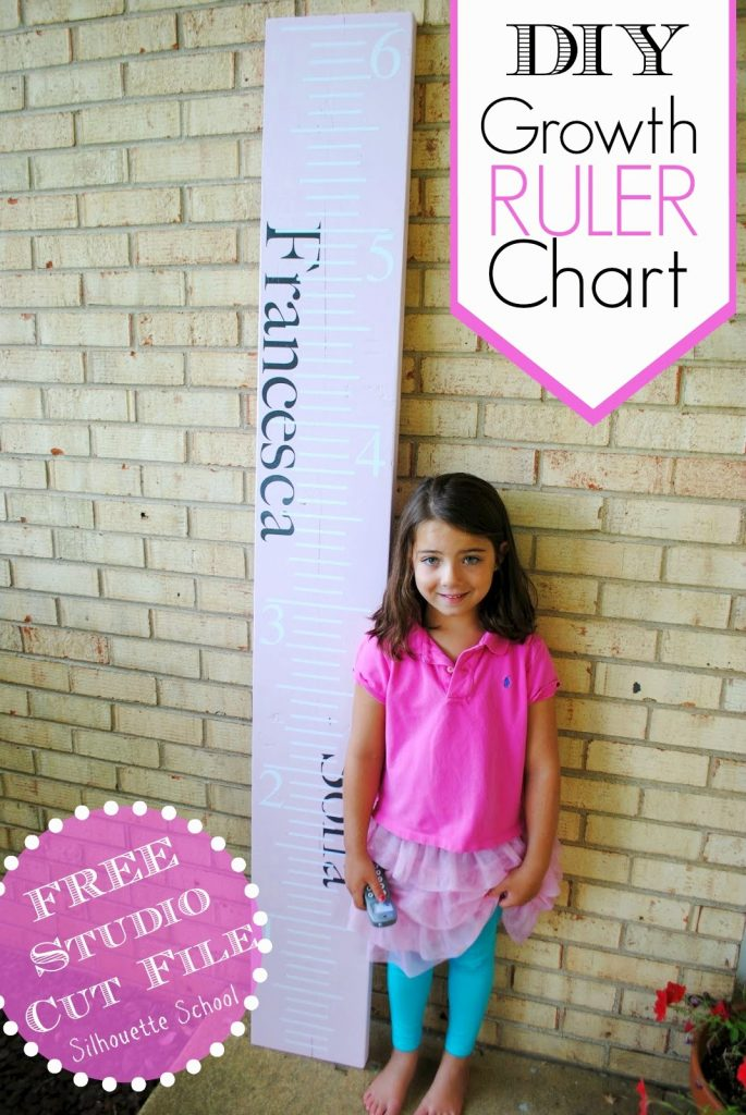 best adhesive vinyl project custom growth ruler chart