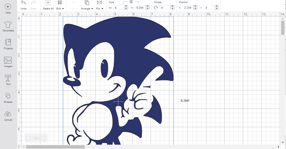 sonic SVG Cricut design space geek tee