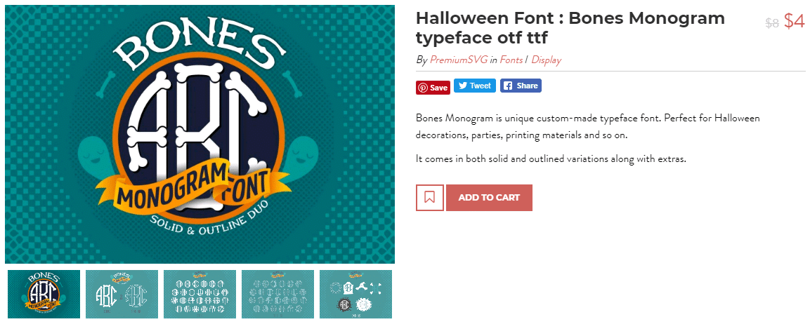 cool monogram font for halloween