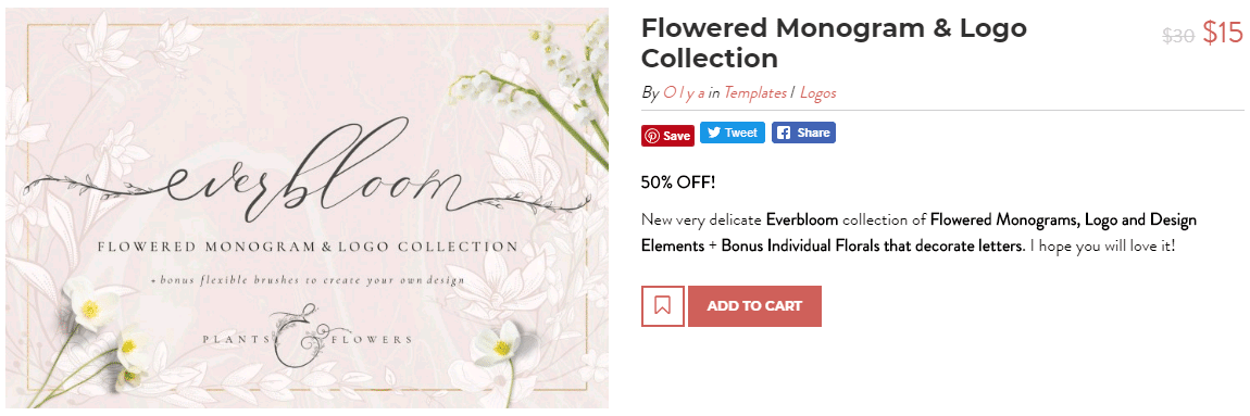 flowered monogram font for craft projects beautiful