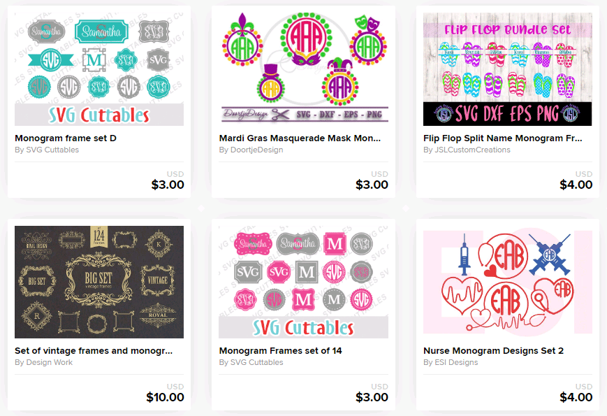 41+ Circle Monogram Frame Bundle Crafter Files