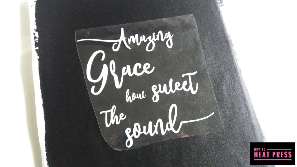 amazing grace reverse canvas cricut iron on position transfer