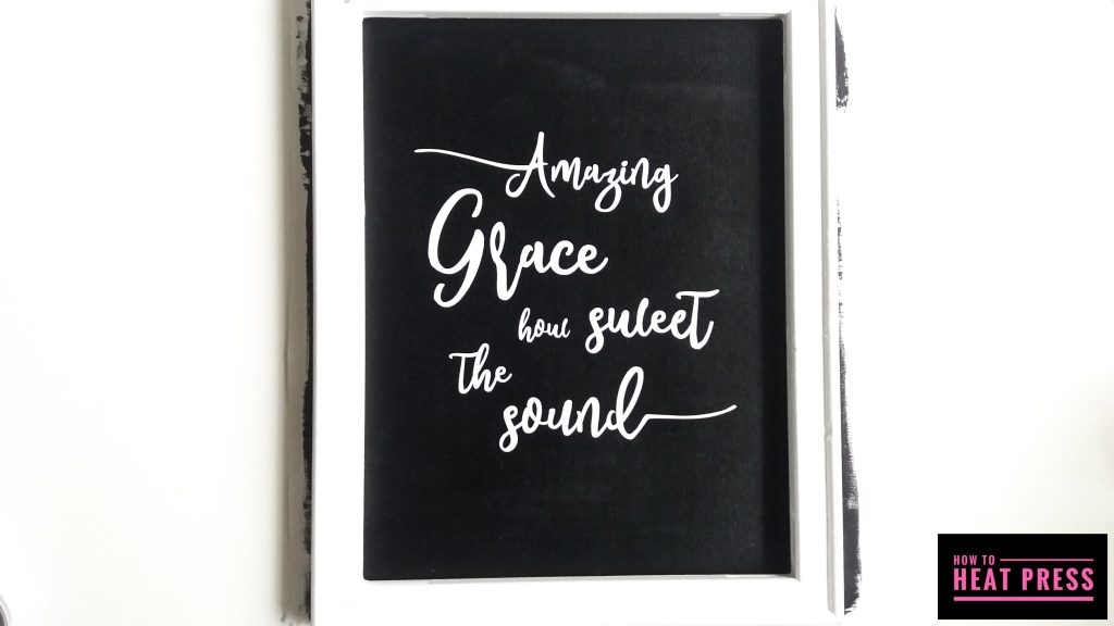 amazing grace reverse canvas cricut iron on reattach canvas to frame