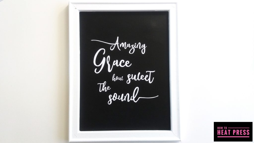 amazing grace reverse canvas cricut iron on front