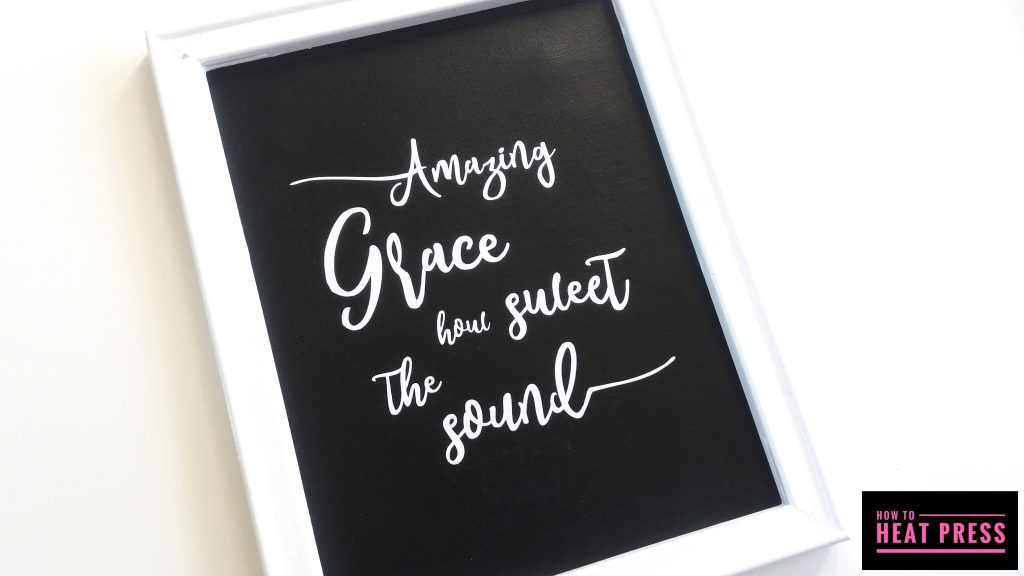 amazing grace reverse canvas cricut iron on