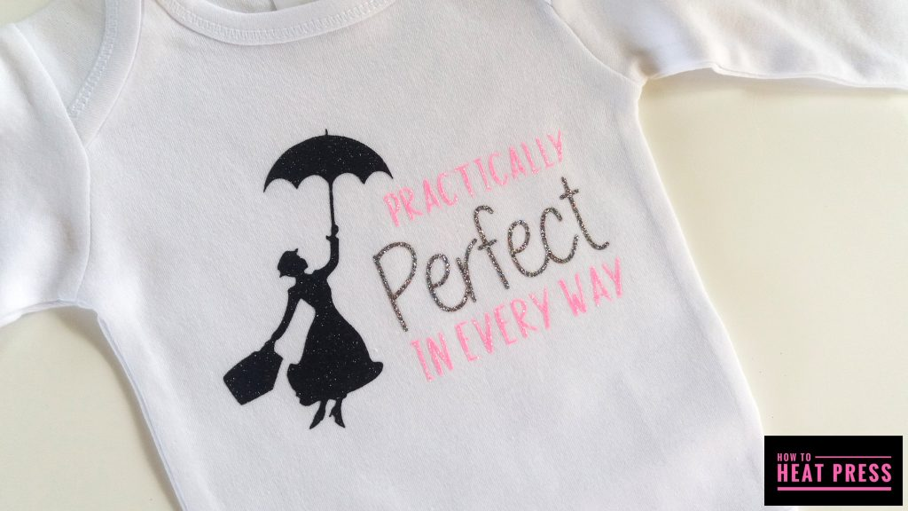 mary poppins glitter heat transfer vinyl project