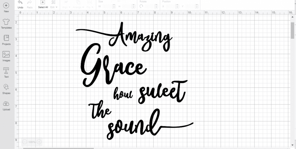 amazing grace reverse canvas cricut iron on cricut design space design