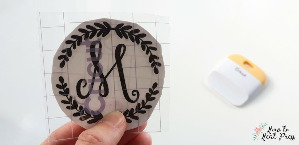 cricut vinyl transfer with transfer tape and burnishing tool