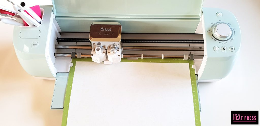 the cricut explore air 2 with patterned iron on heat transfer vinyl