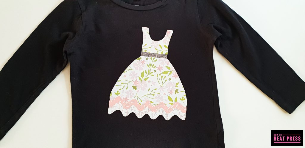 cricut project idea t shirt with patterned iron on