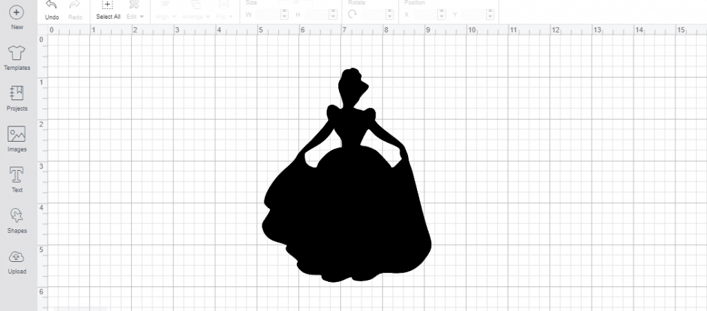 completed cinderella SVG
