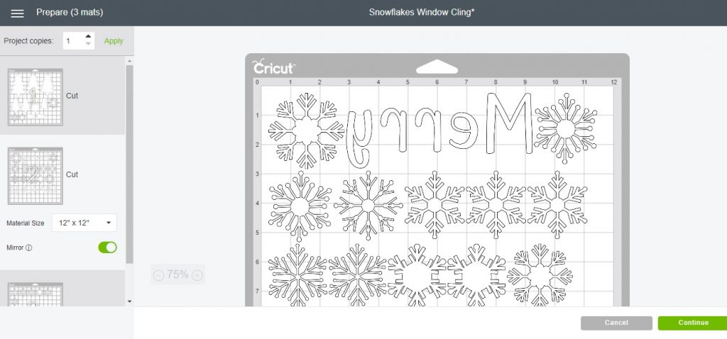 cricut frosted window cling