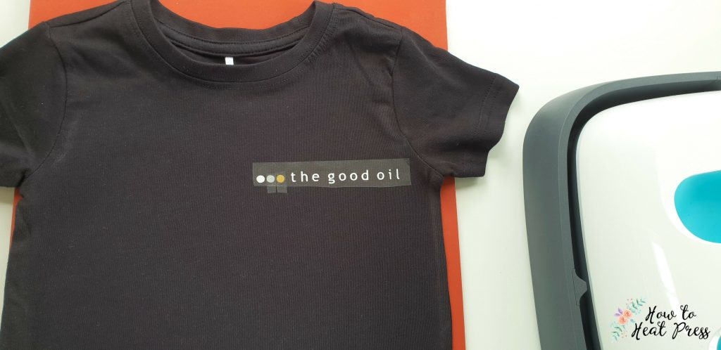 prepare to press custom t shirt with siser easyweed with cricut easypress
