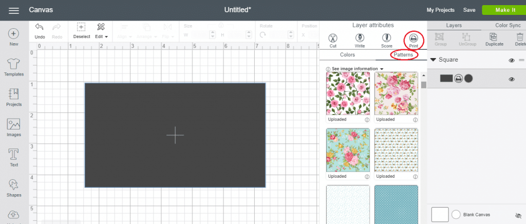 How To Locate & Use Patterns In Cricut Design Space