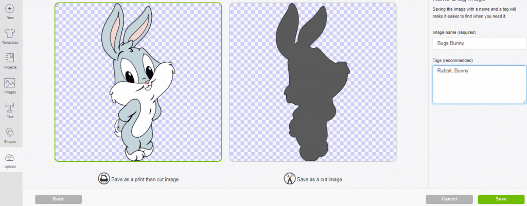 print then cut bugs bunny svg file