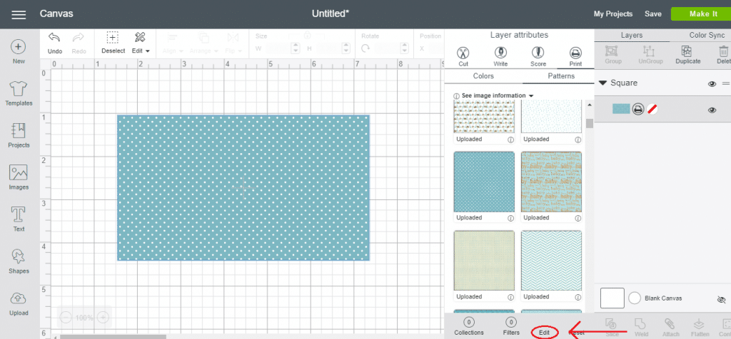 How to Edit A Pattern In Cricut Design Space