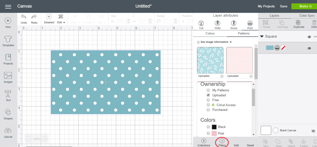 How To Filter Patterns In Cricut Design Space