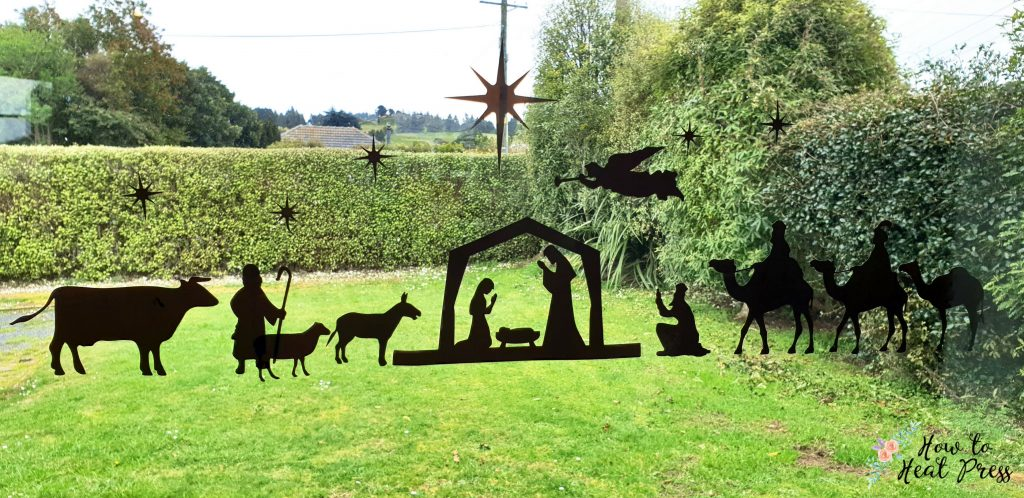 Christmas Nativity Scene Project With Cricut Window Cling