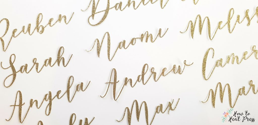 cricut wedding place name project