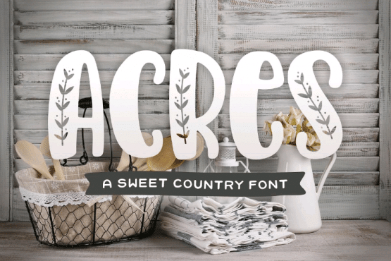 acres country font for thanksgiving