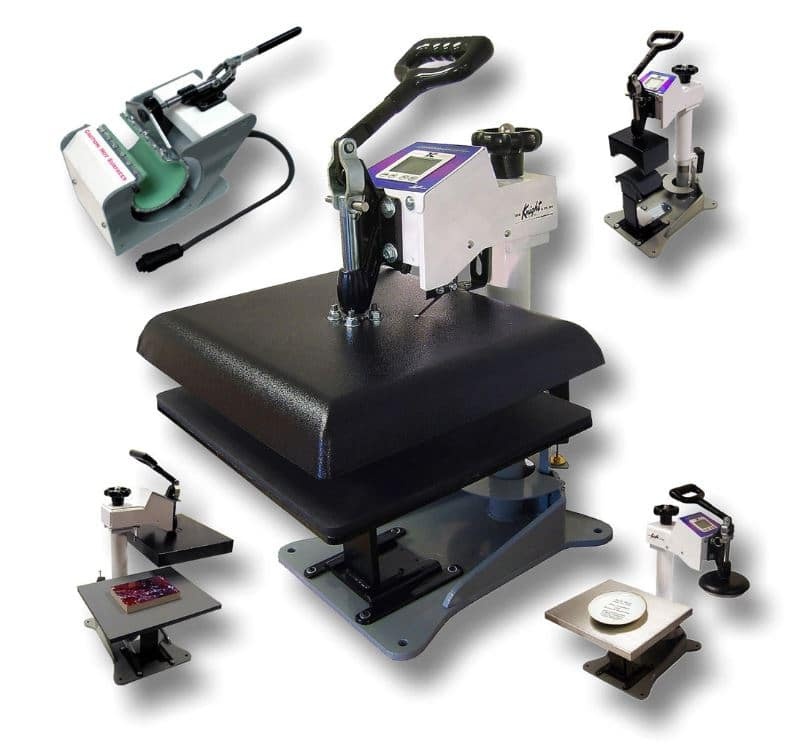 heat press with attachments