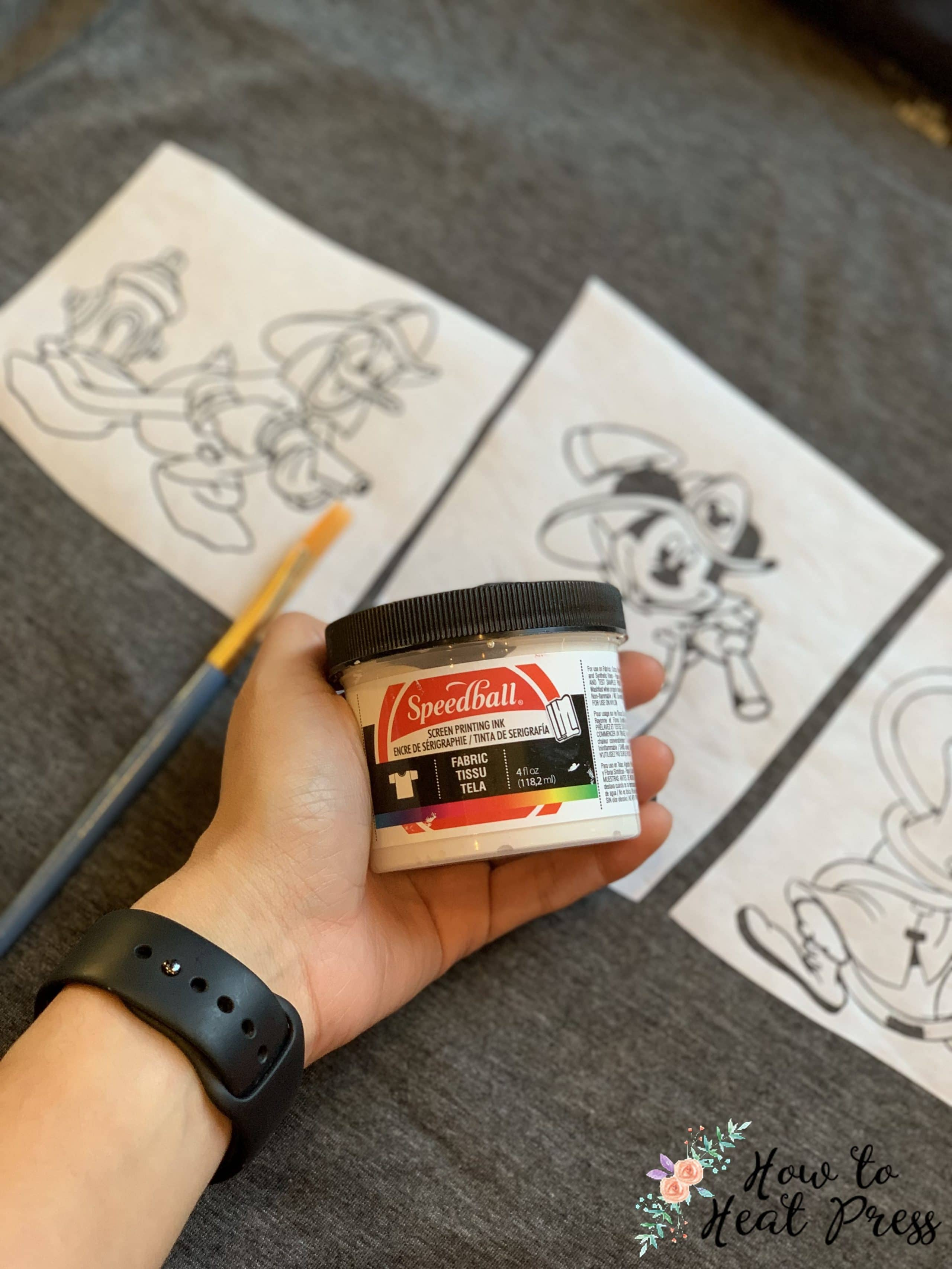 mickey mouse cricut freezer paper project with speedball screen printing ink