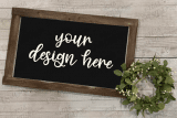 farmhouse sign template mock up