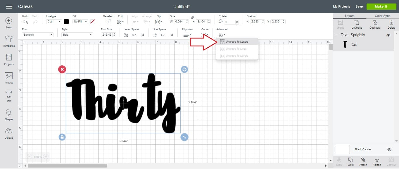 how to unweld something in cricut design space