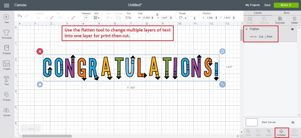 how to add text in cricut design space
