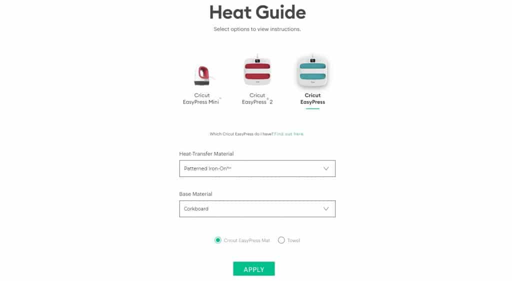how to use cricut interactive heat guide