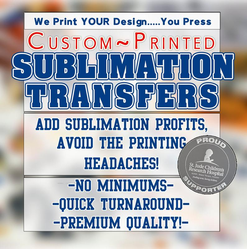 print custom sublimation transfers
