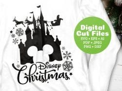 disney christmas svg