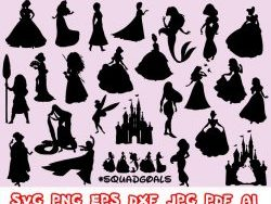 disney princess svg